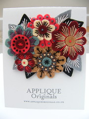 VINTAGE BOUQUET FELT BROOCH (APPLIQUE-designedbyjane) Tags: vintage brooch silk felt cotton bouquet