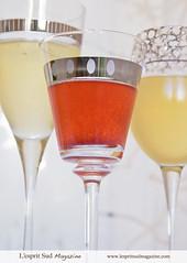 Champagne cocktails (Scrumptious Venus) Tags: recipe holidays champagne cocktails marthastewartliving lespritsudmagazine gastronomymagazine