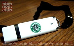 White Starbucks USB Thumb Drive