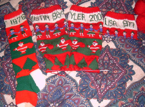 Christmas Stockings Progress