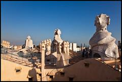 Wavy Roof (matt.sellars) Tags: barcelona spain europe 2009 casamila casamil antoniogaudi 5dmarkii 5dmark2