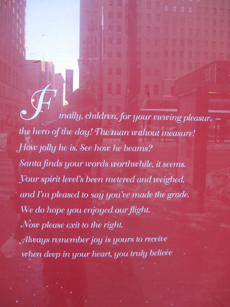 Macy's - Window 5 - Sign (Click to enlarge)