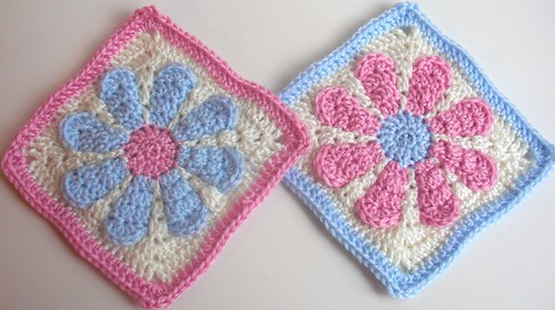Daisy Flower Charity Squares-acrylic-7inches square