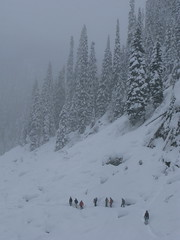 new years day hobbits (lorneinvan) Tags: snow canada mountains backcountry snowshoeing joffrelakes newyearsday2010 bcduffylakeroad