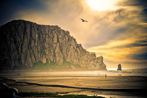 フリー画像| 自然風景| ビーチ/海辺| 山の風景| 岩山の風景| モロベイ| アメリカ風景|     フリー素材|