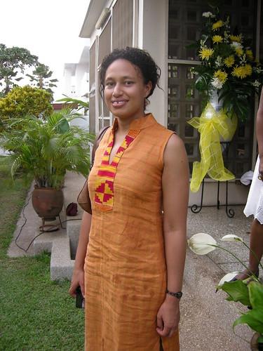 abena orange dress
