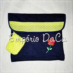 Capa de Notebook Green (emporiodaca) Tags: notebook handmade artesanato notebookbag capadenotebook empóriodaca