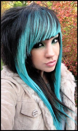 cabelo emo colorido