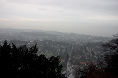 Bregenz (dididumm) Tags: rain clouds grey austria sterreich mess view cloudy wolken grau bregenz aussicht bodensee regen wolkig crappyweather mistwetter vorarlberg lakeconstance drearyweather gebhardsberg