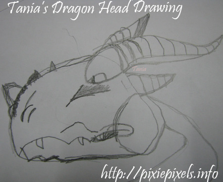 Day20 Dragon Head Drawing