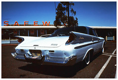 De Soto Adventurer (Bob the Binman) Tags: sanfrancisco california classic automobile transparency safeway desoto 1960 adventurer prakticasupertl kodakchrome64