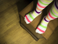 There's nothing like Rainbow Socks! - 19/365 (LittleRedCera) Tags: socks stripes 365 19 2010 stripeysocks take2 inmybedroom hbm inmyhouse cedarchest lotsofcolors january25 littleredcera happybenchmonday