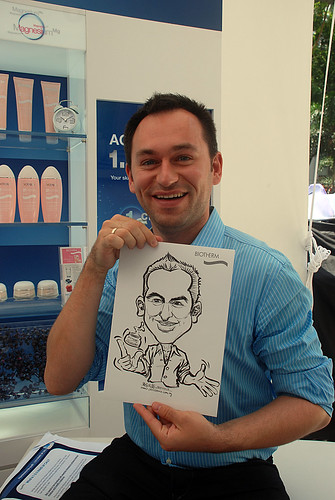 Caricature live sketching for Biotherm Roadshow Loreal - 3