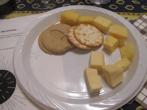 Fromages du Québec et crackers