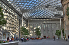 Kogod Courtyard HDR (Mr.TinDC) Tags: washingtondc smithsonian dc downtown chinatown dcist galleryplace museums npg hdr highdynamicrange courtyards downtowndc pennquarter artmuseums saam portraitgallery photomatix atriums smithsonianamericanartmuseum reynoldscenter kogodcourtyard nationalportraitgalley