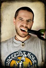 y2.d35 | drunken hours await me. (B Rosen) Tags: two portrait selfportrait texture me face self nikon wine drink cork teeth year booze yeartwo 365 alchohol yarrrrrr d60 2510 365days nikond60 365project 3652010