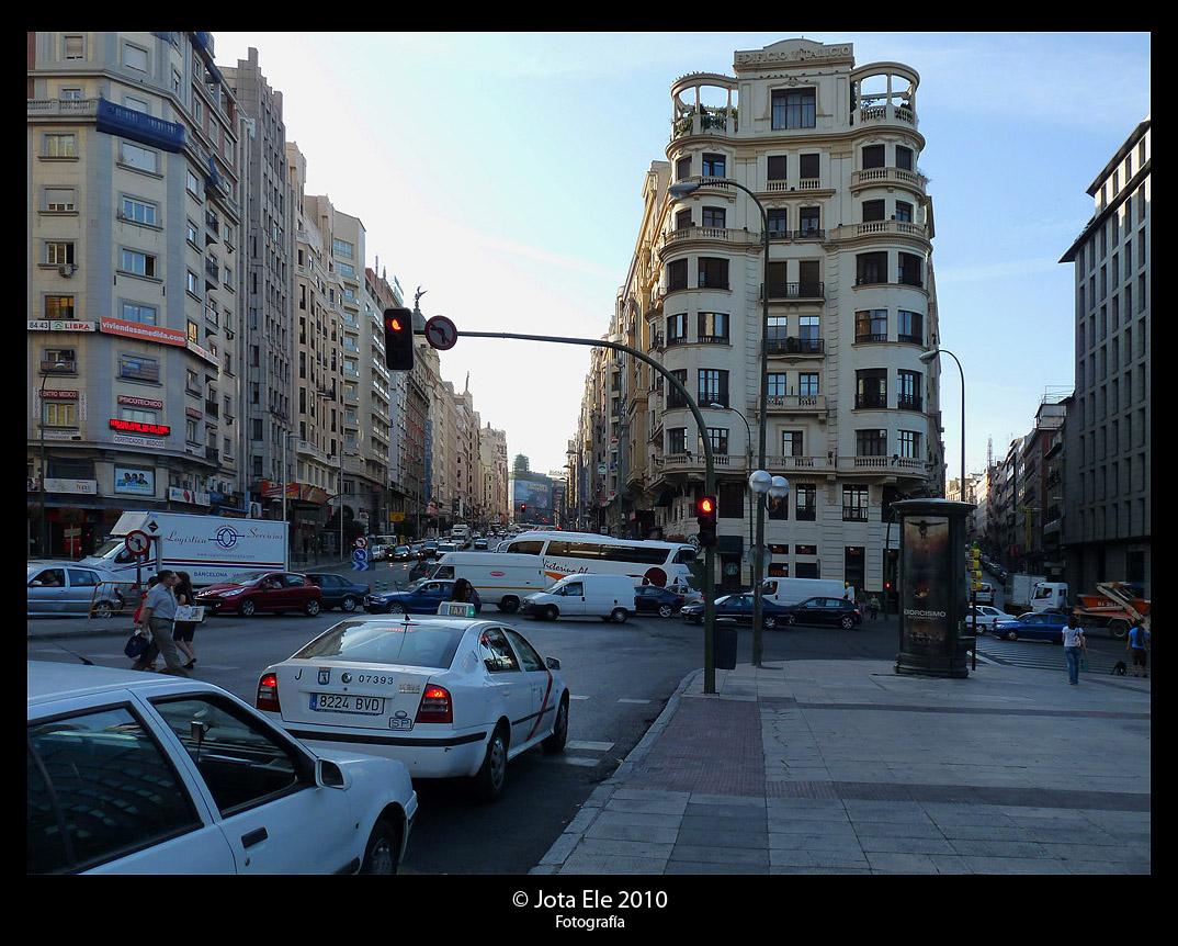 Gran Vía desde la Plaza de España