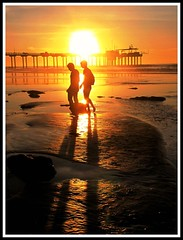 California Dreaming Again (moonjazz) Tags: sun pier couple walk beach california shadows romance woman man love light sunset sandiego travel beauty attraction silhouette long sharing afternoon health people together timeless