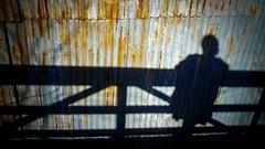 Blue at the Bridge (39/365) (Photosynthesised) Tags: bridge blue shadow wallpaper woman ny building girl rust day hd 169 beacon 1920x1080 madamebrettpark