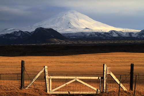 "Hekla  a dormant volcano ""Gateway to Hell."""