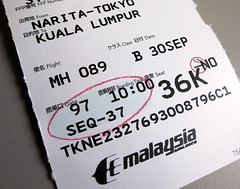 My Ticket for Malaysian Airline Flight MH089 () Tags: vacation holiday macro japan plane inflight airport jet ticket aeroporto  nippon boeing nosmoking tickettoride mh 777 biglietto rtw nihon narita billet vacanze roundtheworld eticket naritaairport boardingpass  billete globetrotter japn  boeing777 honshu malaysiaairlines malaysiaairline internationalairport malaysianairlines 777200 tokyoairport naritainternationalairport  tokyonarita newtokyointernationalairport   insidetheplane worldtraveler etkt 22days boeing777200  airlineticket  36k cabininterior intlairport  airplaneticket 7772h6er flight89  interiorcabin  naritatokyo  tokyonaritaairport inthecabin  priceofadmission mh89 mh089 flight089 seat36k