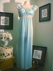 cap sleeve goddess (Sweet Sugar Bunny) Tags: vintage robe vanity fair retro olga nightgown peignoir nightie