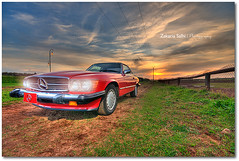 Hot Red Car (Zakaria Salhi) Tags: africa sunset red colors car rouge nikon 10 sigma voiture morocco maroc mercedesbenz 20 hdr rabat afrique d300 zakariasalhi