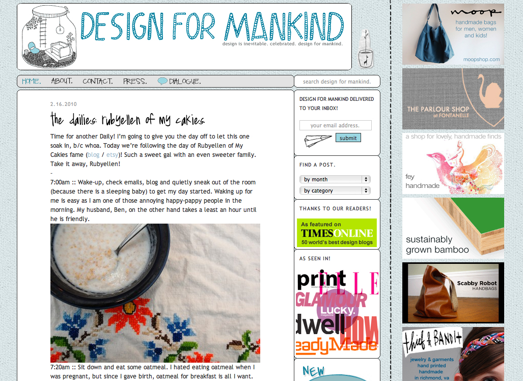 my daily on design for mankind