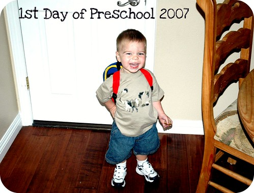 1st Day of Preschool-Angry Toddler