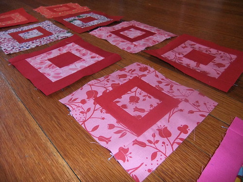 Paintbox quilt along blocks--reds