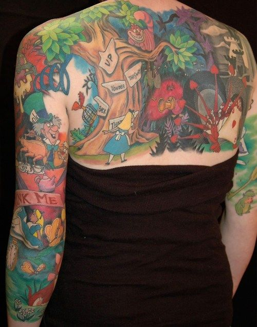 Tattoo artist Holly Azzara created this enormous back and arm tattoo that