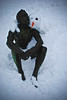 one cool dude (slithy-toves) Tags: snowman buddy ithaca dewittpark cooldude nakedmanstatue