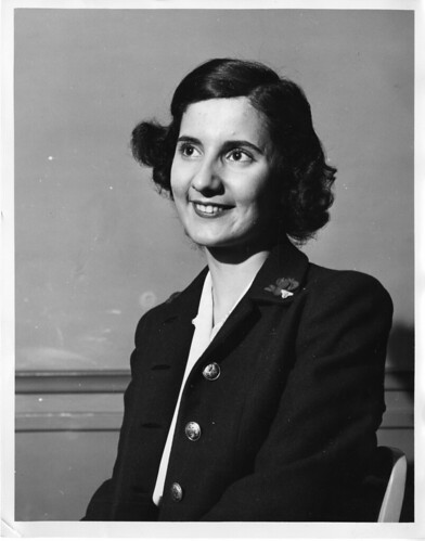 Anne Hagopian (1928?-2008), 1944, by Science Service, Black-and-white photograph, Smithsonian Instit
