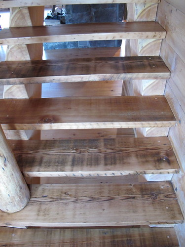 Barnwood Stairs leading UP