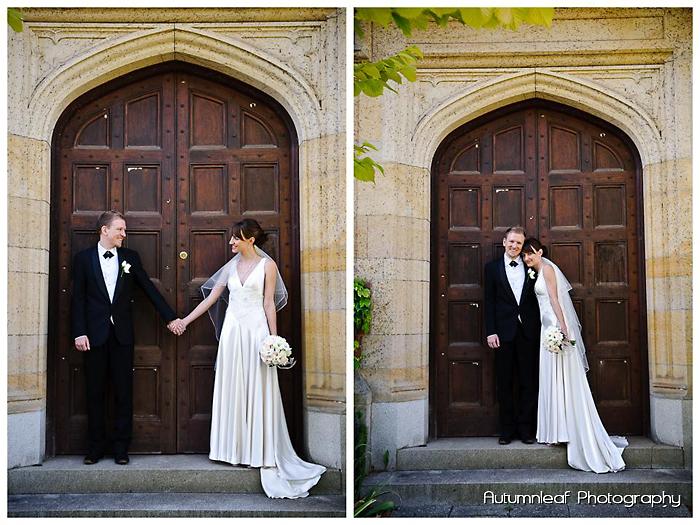Frances & Bradley's Wedding - At the front door
