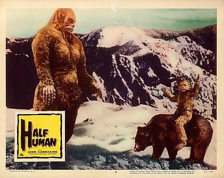 HALF HUMAN (1958) Lobby card