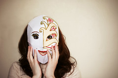 What kind of mask are you wearing today? | [ Explored! ] ( Lisa) Tags: light art hair beige hands mask lumire arts naturallight explore surprise feeling vignetting mains vignette mascarade artproject masque lightroom neutral cheveux 50mmf18 cs4 motion interestigness maskedball neutre explored