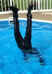 20 LS Try this mates - water rushes to crotch! (Leviswimmerwet) Tags: wet swimming clothed tshirt fully wetlook swimmingfullyclothed wetjeans wetboots wetladz wetleatherjeans swimminginleather swimminginboots wetladzinleather