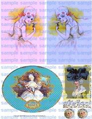 Marie Antoinette Collage Sheet (HollyLovesArt) Tags: fashion collage digital download sheet marieantoinette postard