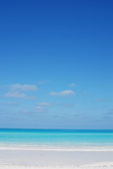 Dreams of Blue... (sunshine arts) Tags: ocean blue sea summer vacation sky mer holiday beach nature water clouds sand agua eau paradise turquoise cuba sable bluesky bleu ciel t nuages vagues plage paradis cielbleu shadesofblue cayosantamaria
