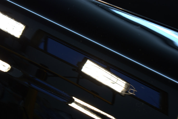 2008 Cadillac STS-V fender zoomed in