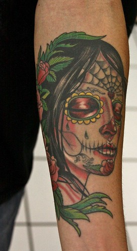 day of dead girl tattoo pictures. Sylvia Jai, day of the dead