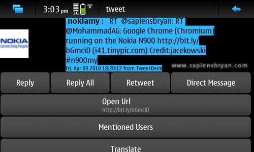 Witter Twitter Client for Nokia N900