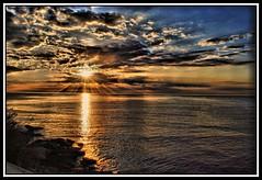 Mediterranean sunrise! (ChemaChemos) Tags: sea costa sun sol clouds sunrise mar rocks cloudy blanca amanecer nubes hdr rocas mediterraneansea hdri calpe costablanca calp marmediterraneo whitecoast mdeiterraneo