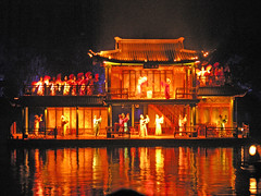 Floating stage (Roving I) Tags: china night reflections design stages entertainment westlake hangzhou shows impressions barges spectacle stagelighting