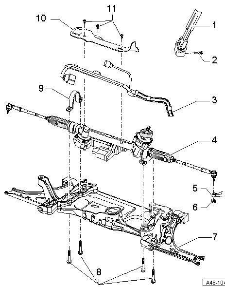 audi s3 8p steering rack problem help audi sport net rh audi sport net Audi Parts Diagram audi tt power steering diagram
