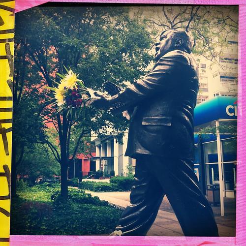 statue of Fiorella LaGuardia at LaGuardia Place