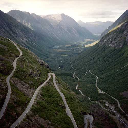 The famous Trollstigen road