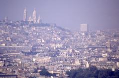 Blick vom Eiffelturm 1992  zur Sacre Coeur (fotoculus) Tags: frankreich francia france lafrance paris paris1992 wochenendbusfahrt eiffelturm