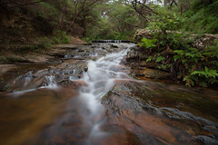 Cascades above Wentworth Falls (astrogirl969) Tags: fujifilm xe1 samyang12mmf20ncssc haidandfilters nd64 water waterfall cascade longexposure outdoor iwps outing bluemountains wentworthfalls astia filmsimulation acr manualfocus wideangle postprocessed 3000views 20faves